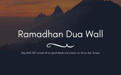 Ramadhan Dua Wall