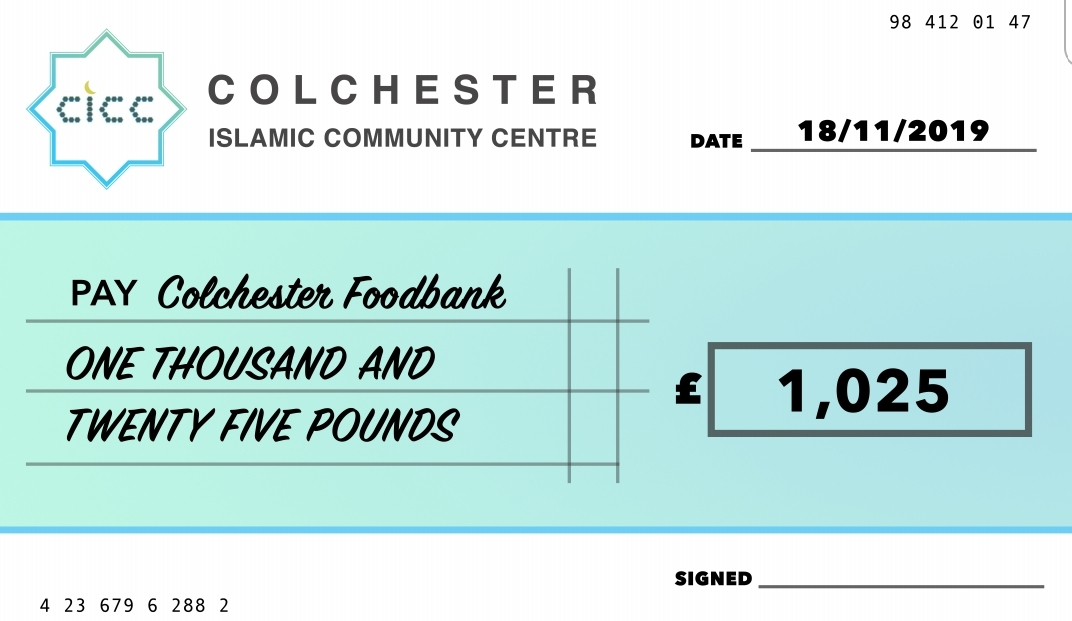 Helping the community: CICC raises over £1000 for foodbank