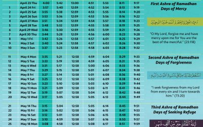 Get your Ramadhan Timetable